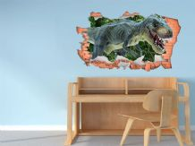 FULL COLOUR Dinosaur Wall Art, Modern Transfer, PVC Decal, 3D Window, Sticker